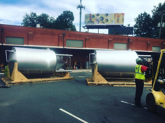 large steel tanks for food and bev industry