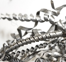 Closeup of twisted spiral steel