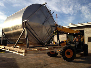 Stainless steel tank ready for delivery