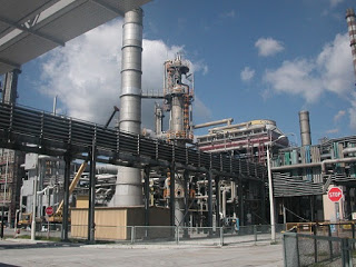 Outside look at a chemical factory