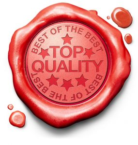 top quality best of best label red wax stamp icon confirmed qual